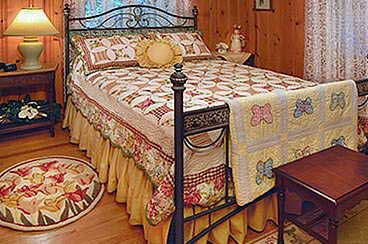 Bedroom at Cottontail Cottages
