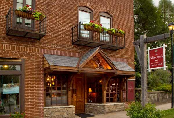 Exterior Shot of the White Birch Inn
