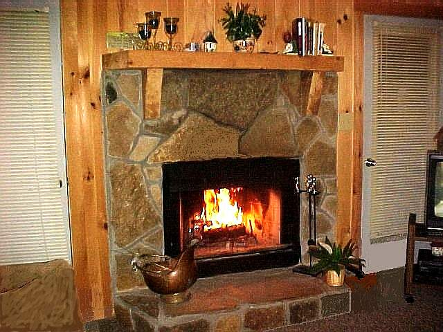 A fireplace at Cradle Rest