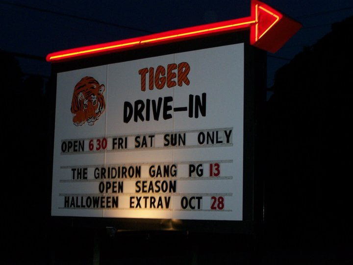 Sign for Tiger Drive-in